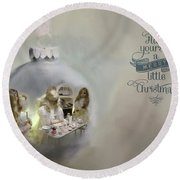 Believe In The Magic Of Christmas Round Beach Towel