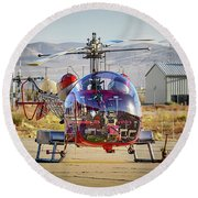 Bell 47 Round Beach Towel