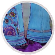 Bell Bottoms Round Beach Towel