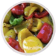Bell Peppers Original Iphone Photo Round Beach Towel