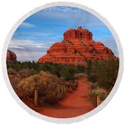Round Beach Towel featuring the photograph Bell Rock by James Peterson