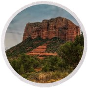 Round Beach Towel featuring the photograph Courthouse Butte - Sedona  by Saija Lehtonen