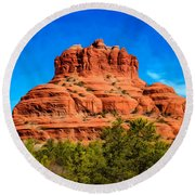 Bell Rock Tower Round Beach Towel