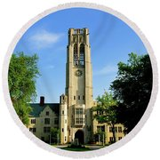 Bell Tower At The University Of Toledo Round Beach Towel