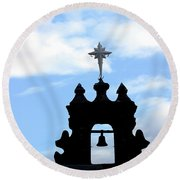 Bell Tower Capilla De Cristo Round Beach Towel