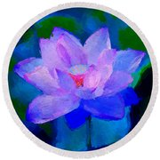 Round Beach Towel featuring the digital art Bella by Anthony Fishburne