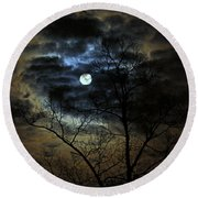 Bella Luna Round Beach Towel by Suzanne Stout