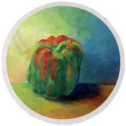 Bella Pepper  Round Beach Towel