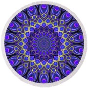 Round Beach Towel featuring the digital art Bella - Purple by Wendy J St Christopher
