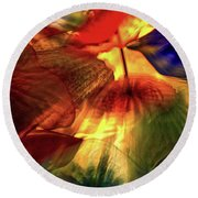 Bellagio Ceiling Sculpture Abstract Round Beach Towel by Stuart Litoff