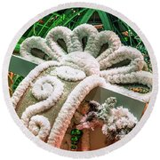 Bellagio Conservatory Giant Christmas Present Round Beach Towel