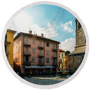 Bellagio, Lake Como, Italy. Round Beach Towel