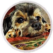 Bella's Thanksgiving Round Beach Towel