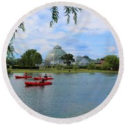 Belle Isle Conservatory Round Beach Towel