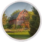 0028 - Belle River Red I Round Beach Towel