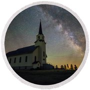 Round Beach Towel featuring the photograph Belleview by Aaron J Groen