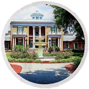 Belmont Mansion Round Beach Towel