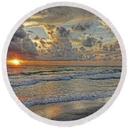 Beloved - Florida Sunset Round Beach Towel by HH Photography of Florida
