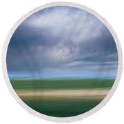 Below The Clouds Round Beach Towel