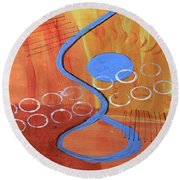Below The Line Round Beach Towel