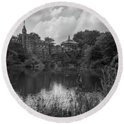 Belvedere Castle Central Park Nyc  Round Beach Towel