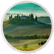 Round Beach Towel featuring the photograph Belvedere - Tuscany II by Brian Jannsen