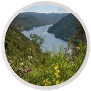 Round Beach Towel featuring the photograph Belver Landscape by Carlos Caetano