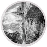 Bempton Cliffs Round Beach Towel by Nigel Wooding