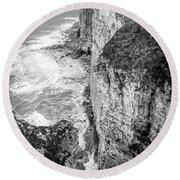 Bempton Cliffs Round Beach Towel by Nigel Wooding