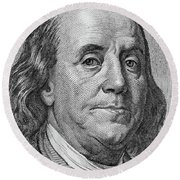 Round Beach Towel featuring the photograph Ben Franklin by Les Cunliffe