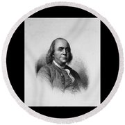 Ben Franklin Round Beach Towel by Richard W Linford