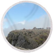 Ben Nevis Round Beach Towel by David Grant