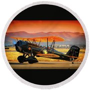 Ben Scott's Stearman Speedmail 4e Version 2 Round Beach Towel