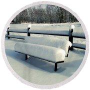 Benched Round Beach Towel