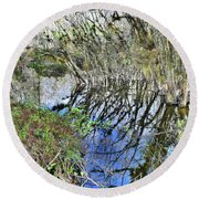 Bended Reflections Round Beach Towel