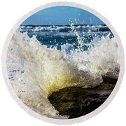 Wave Bending Backwards Round Beach Towel