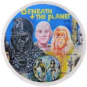 Beneath The Planet Of The Apes - 1970 Lobby Card That Never Was Round Beach Towel