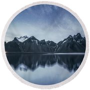 Beneath The Sea Of Stars Round Beach Towel