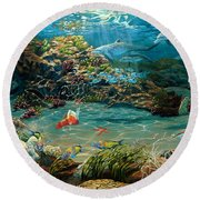 Beneath The Sea Round Beach Towel