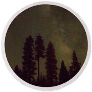 Beneath The Stars Round Beach Towel