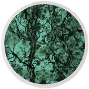 Beneath The Surface Round Beach Towel by David Gordon