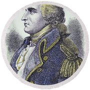 Benedict Arnold  General In The Continental Army Who Turned Traitor Round Beach Towel