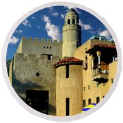 Benedict Castle Tower - Riverside Round Beach Towel