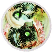 Bengal Tigers Round Beach Towel