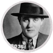 Round Beach Towel featuring the photograph Benjamin Bugsy Siegel by Granger