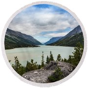 Bennett Lake Round Beach Towel