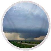 Bennington Tornado - Inception Round Beach Towel by Ed Sweeney