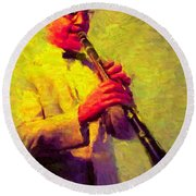 Benny Goodman Round Beach Towel by Caito Junqueira