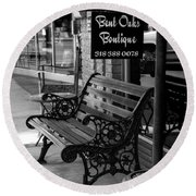 Round Beach Towel featuring the photograph Bent Oaks Boutique by Ester Rogers