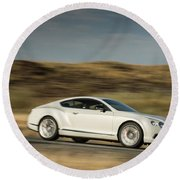Bentley Continental Gt V8 Round Beach Towel